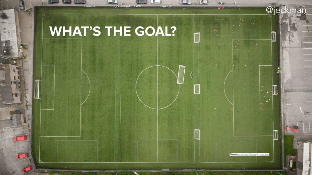 WHAT'S THE GOAL? Photo by matthew Feeney on Uns...