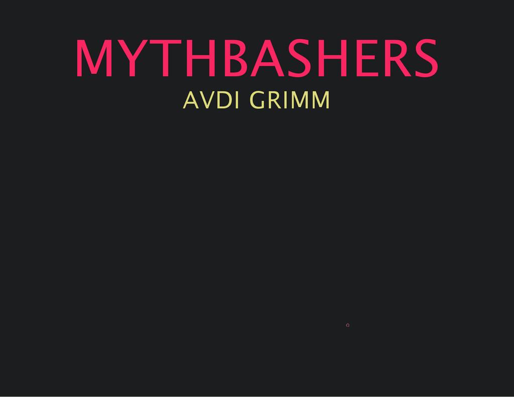 MYTHBASHERS AVDI GRIMM 0
