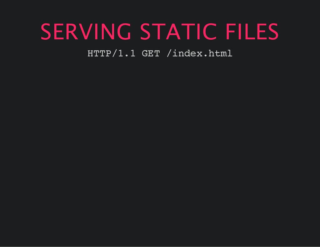 SERVING STATIC FILES H T T P / 1 . 1 G E T / i ...