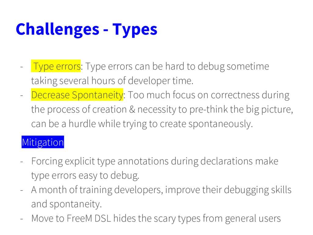 Challenges - Types - Type errors: Type errors c...