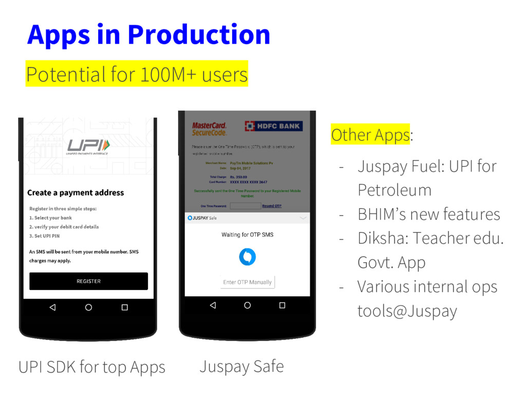 Apps in Production UPI SDK for top Apps Juspay ...