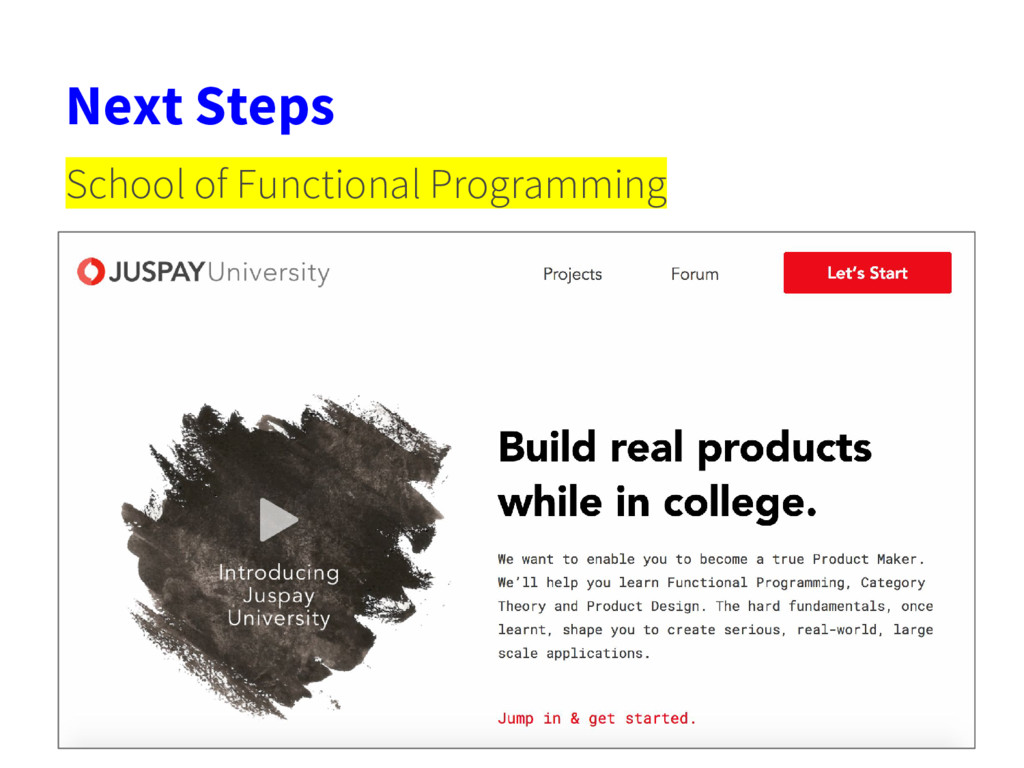 Next Steps School of Functional Programming