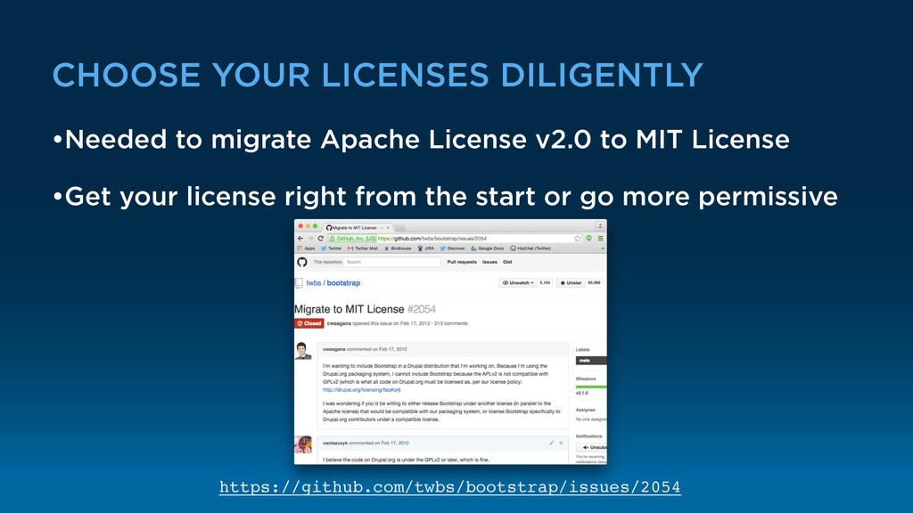 CHOOSE YOUR LICENSES DILIGENTLY •Needed to migr...