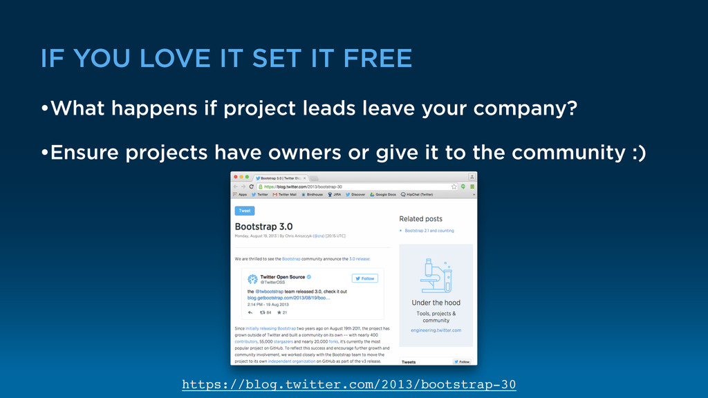IF YOU LOVE IT SET IT FREE •What happens if pro...