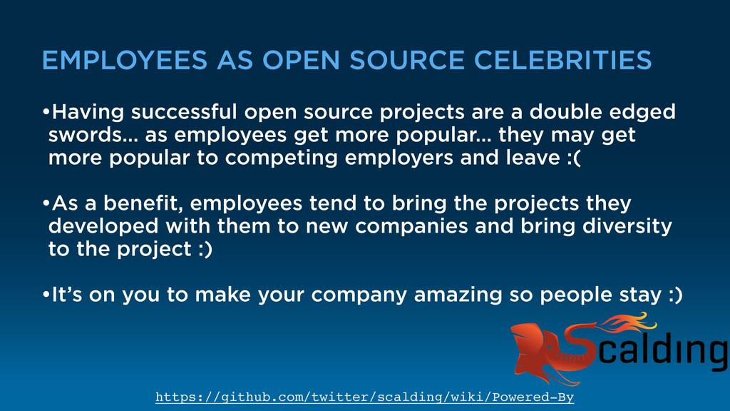 EMPLOYEES AS OPEN SOURCE CELEBRITIES •Having su...