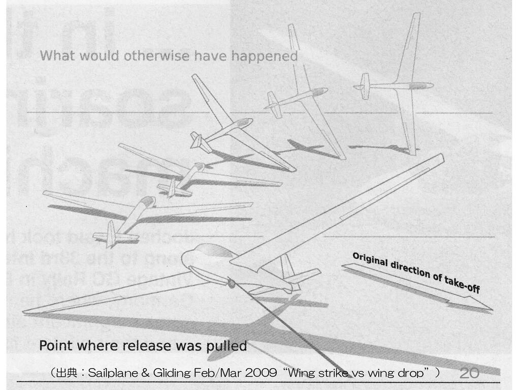 """20 (出典:Sailplane & Gliding Feb/Mar 2009""""Wing st..."""
