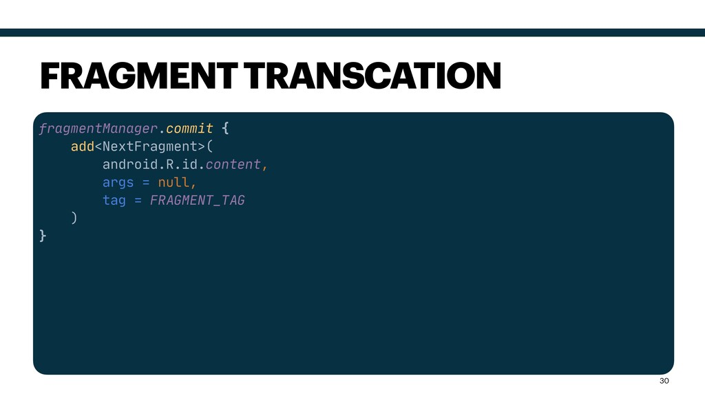 fragmentManager.commit {  add<NextFragment>(  a...
