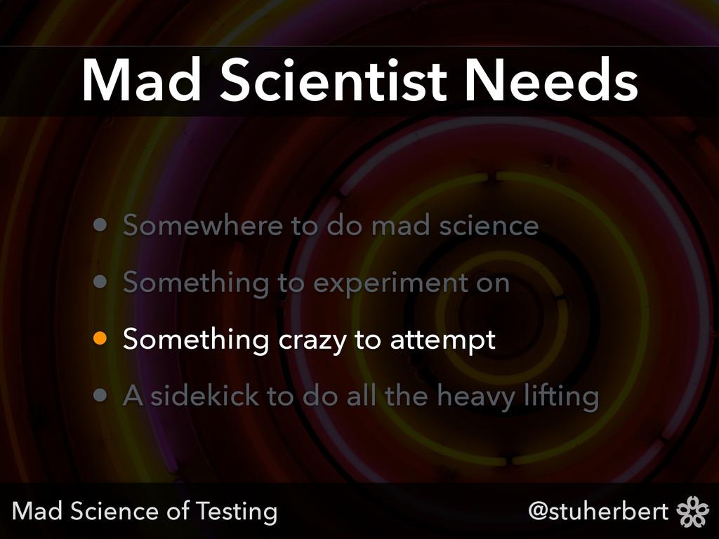 @stuherbert Mad Scientist Needs • Somewhere to ...