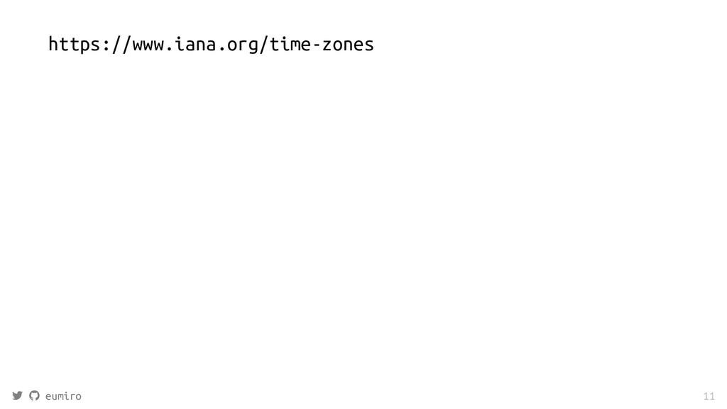 https://www.iana.org/time-zones   eumiro 11