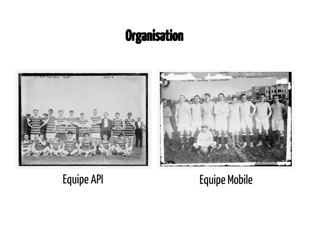 Equipe Mobile Equipe API Organisation