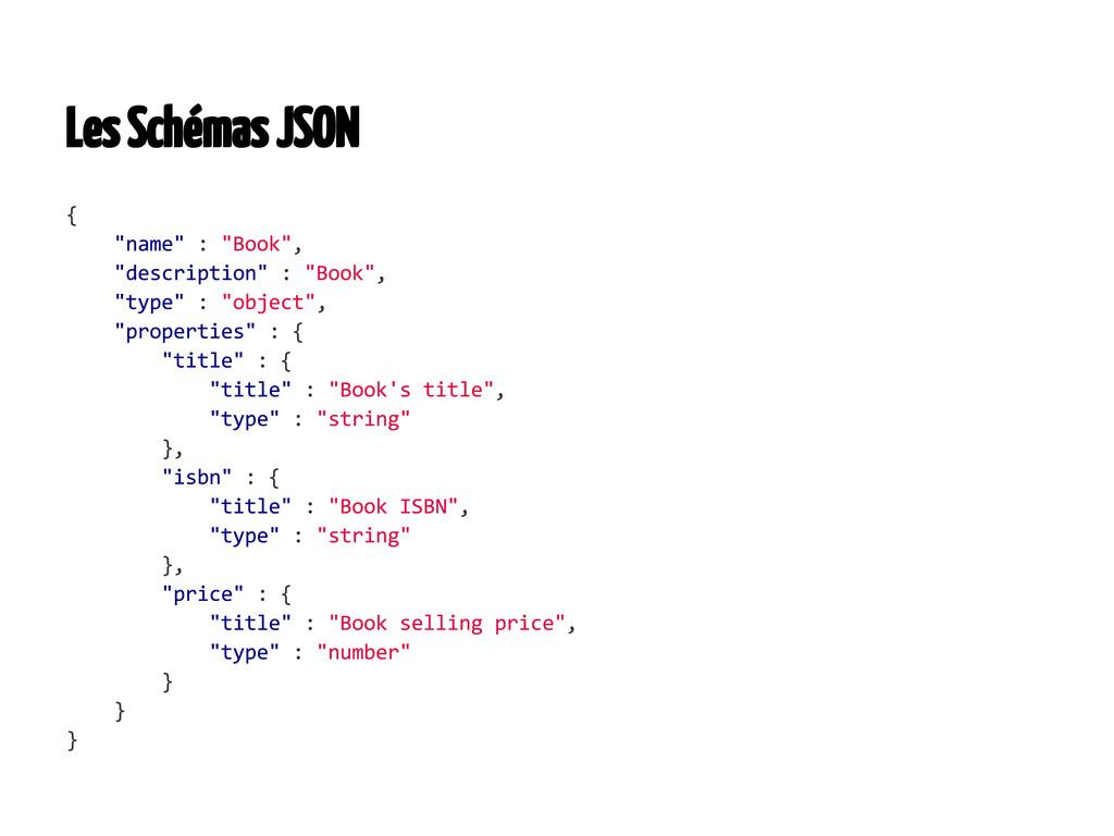 Les Schémas JSON