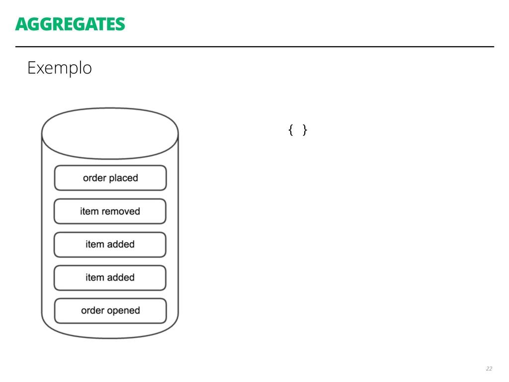 AGGREGATES Exemplo 22 { }