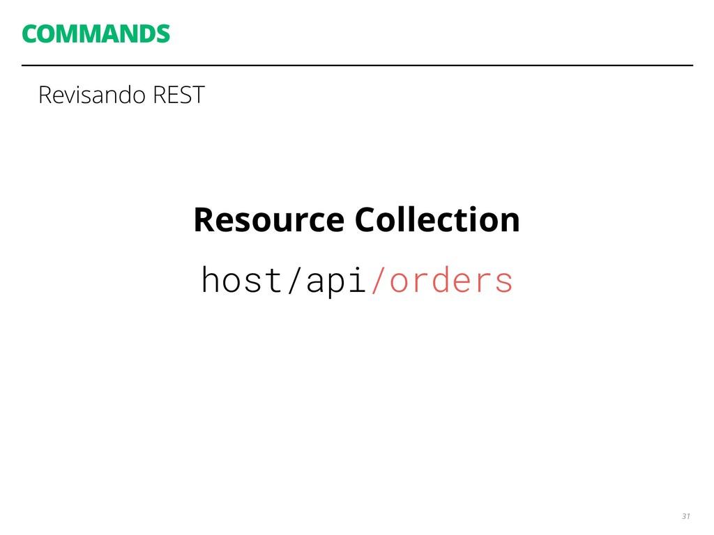 COMMANDS 31 Revisando REST Resource Collection ...