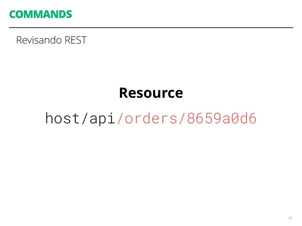 COMMANDS 32 Revisando REST Resource host/api/or...
