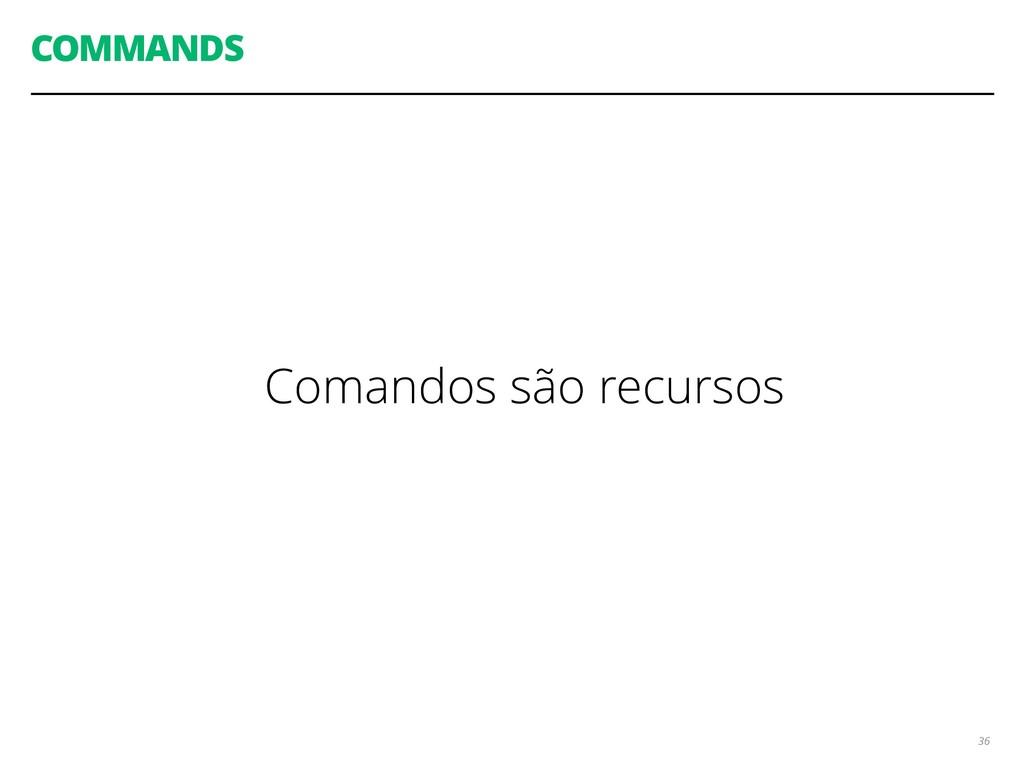 COMMANDS 36 Comandos são recursos