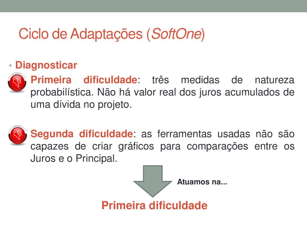 Ciclo de Adaptações (SoftOne) • Diagnosticar • ...