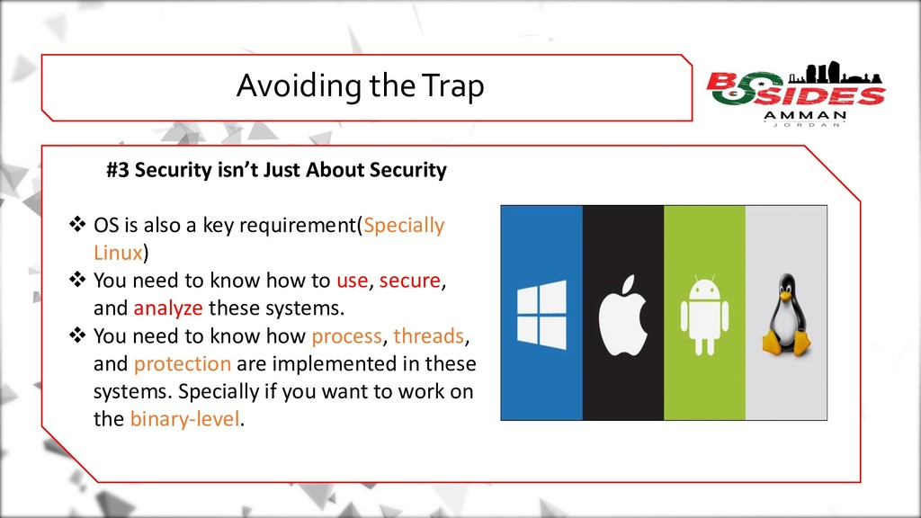 WHO AMI i Avoiding the Trap #3 Security isn't J...