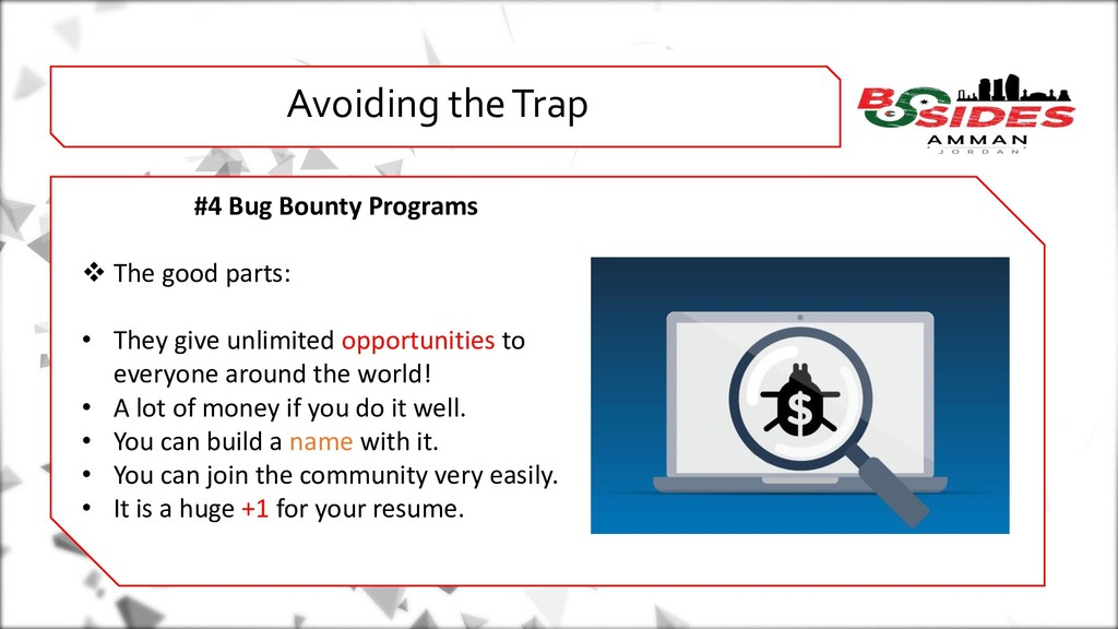 WHO AMI i Avoiding the Trap #4 Bug Bounty Progr...