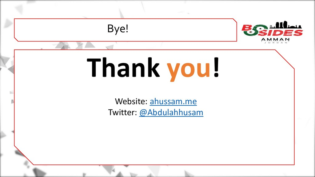 WHO AMI i Bye! Thank you! Website: ahussam.me T...