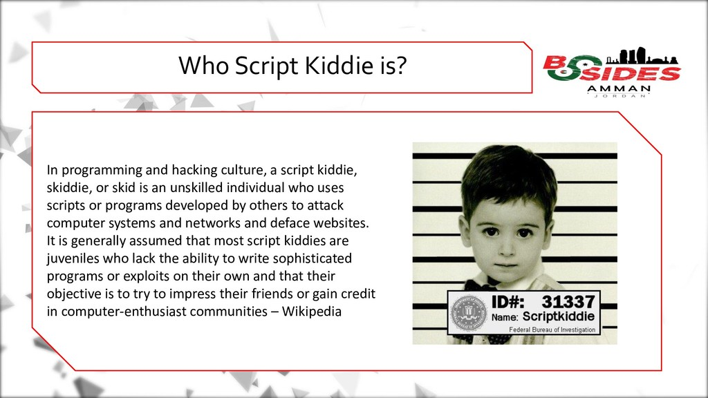 WHO AMI i Who Script Kiddie is? In programming ...