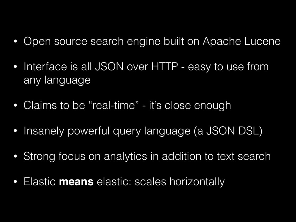 • Open source search engine built on Apache Luc...