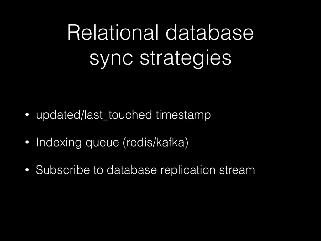 Relational database sync strategies • updated/l...