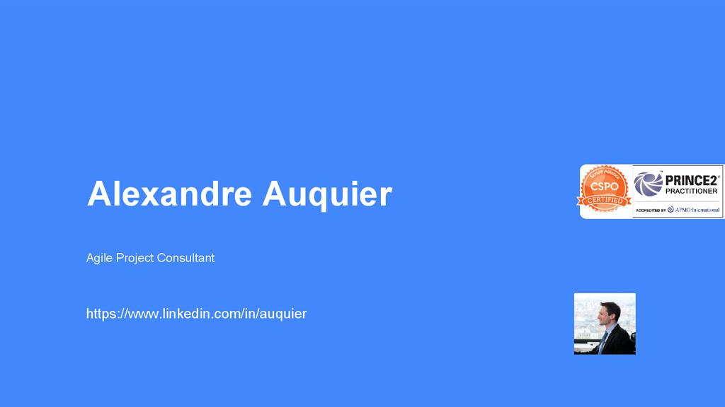 Alexandre Auquier Agile Project Consultant http...