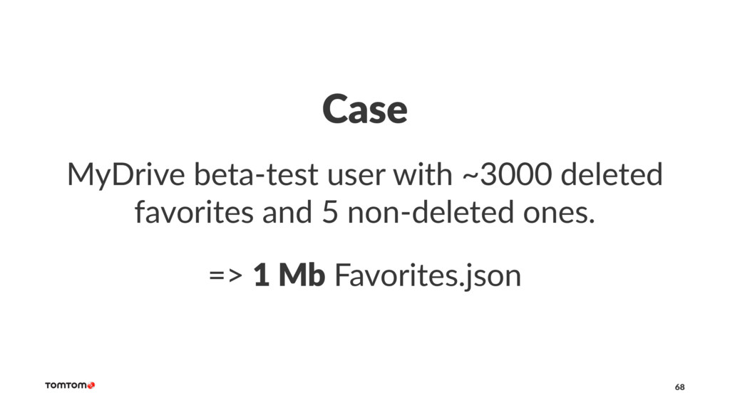Case MyDrive beta-test user with ~3000 deleted ...
