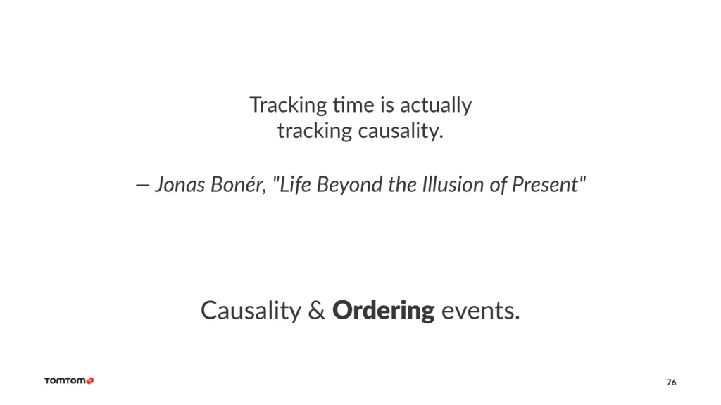 Tracking *me is actually tracking causality. — ...