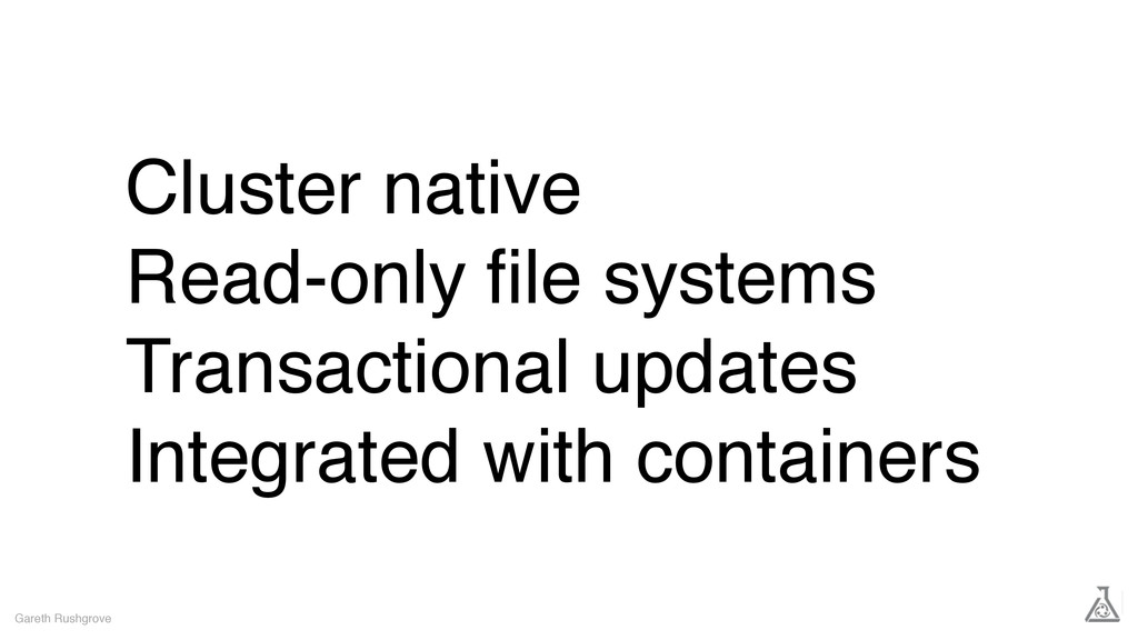 Cluster native Read-only file systems Transactio...