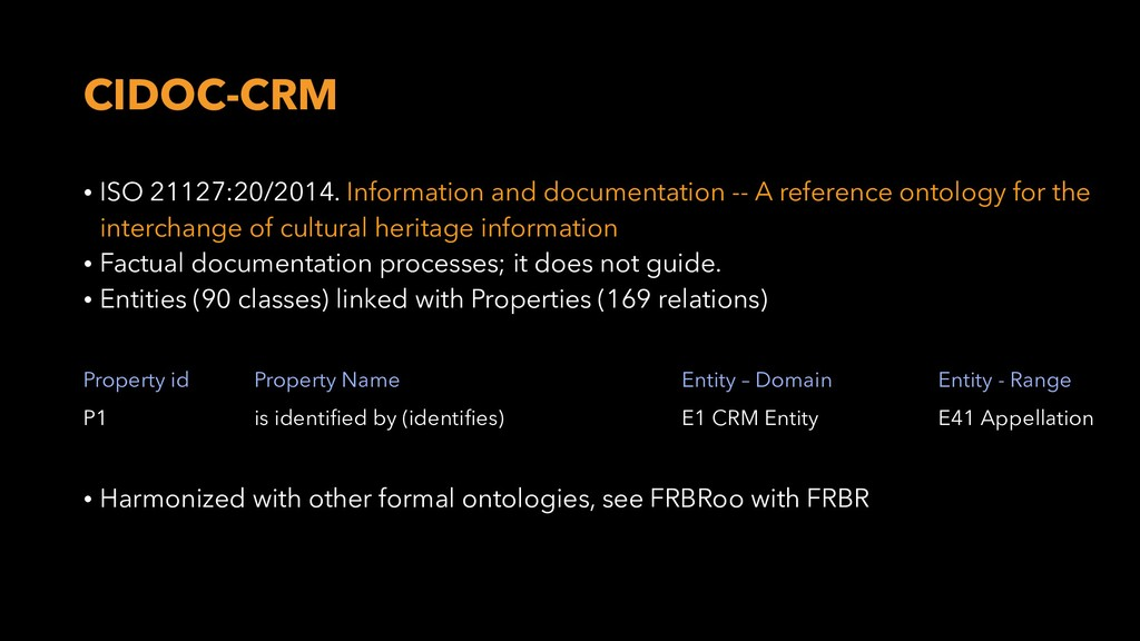CIDOC-CRM • ISO 21127:20/2014. Information and ...