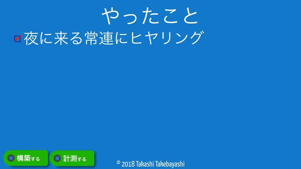 © 2018 Takashi Takebayashi ʹདྷΔৗ࿈ʹώϠϦϯά ͬͨ͜ͱ ߏ...