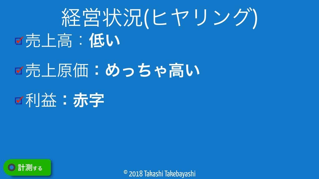 © 2018 Takashi Takebayashi ച্ߴɿ͍ ച্ݪՁɿΊͬͪΌߴ͍ ར...