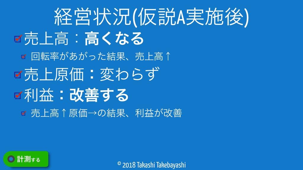 © 2018 Takashi Takebayashi ച্ߴɿߴ͘ͳΔ ճస͕͕͋ͬͨ݁Ռɺ...