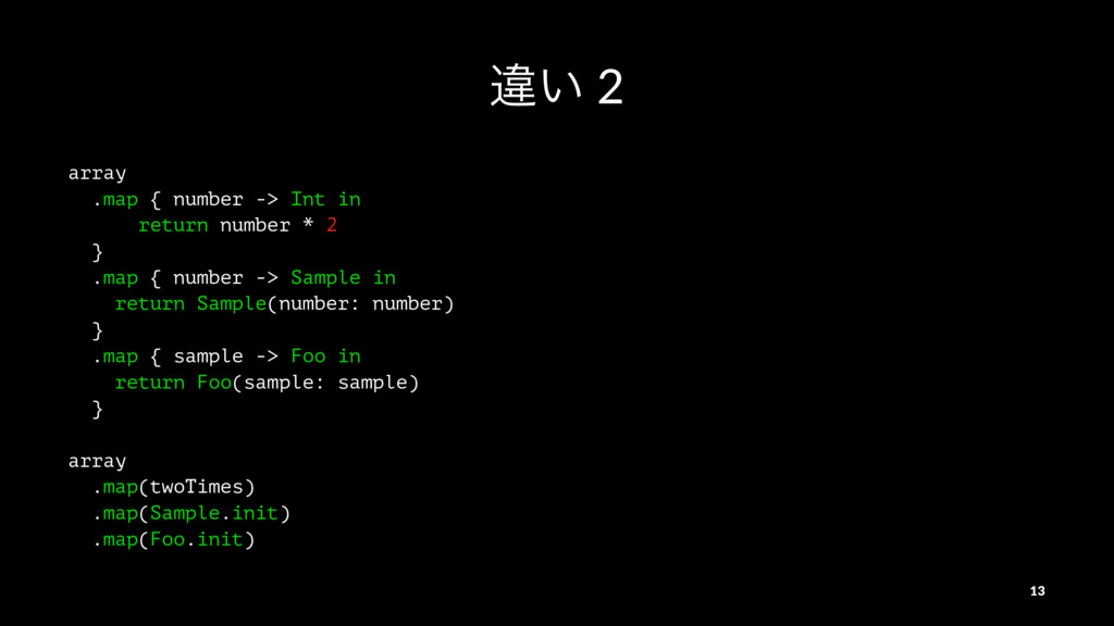 ҧ͍ 2 array .map { number -> Int in return numbe...