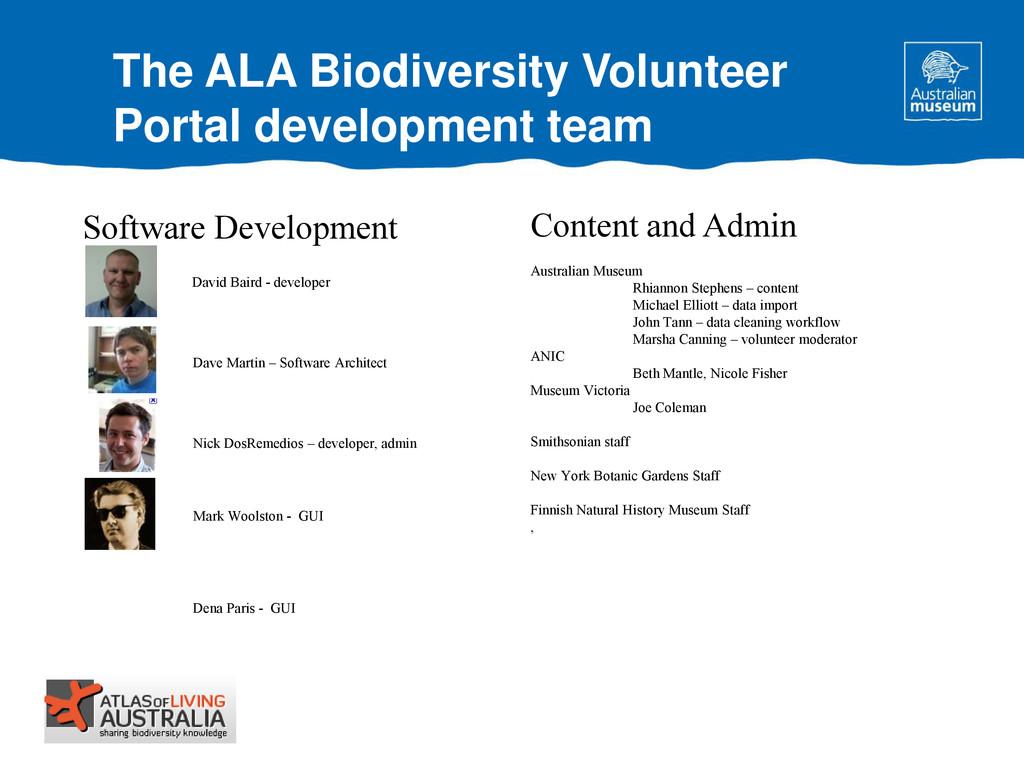The ALA Biodiversity Volunteer Portal developme...