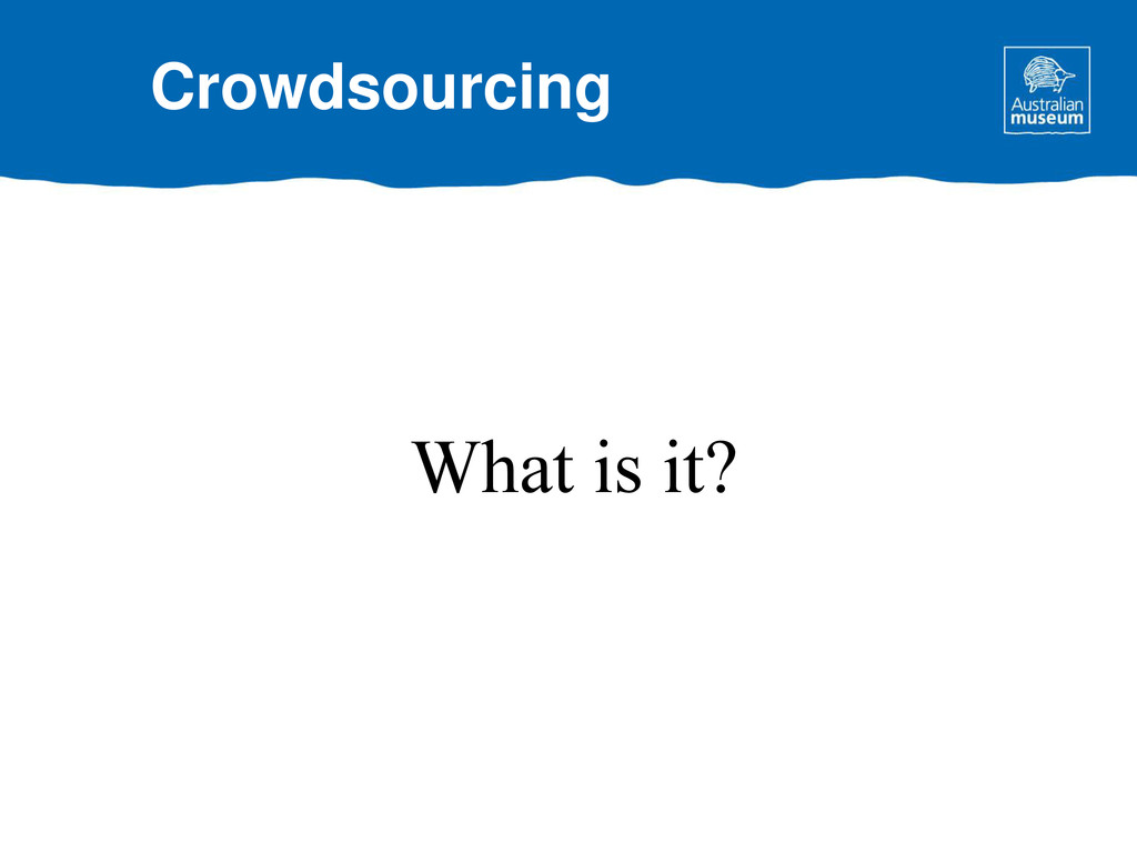 What is it? Crowdsourcing