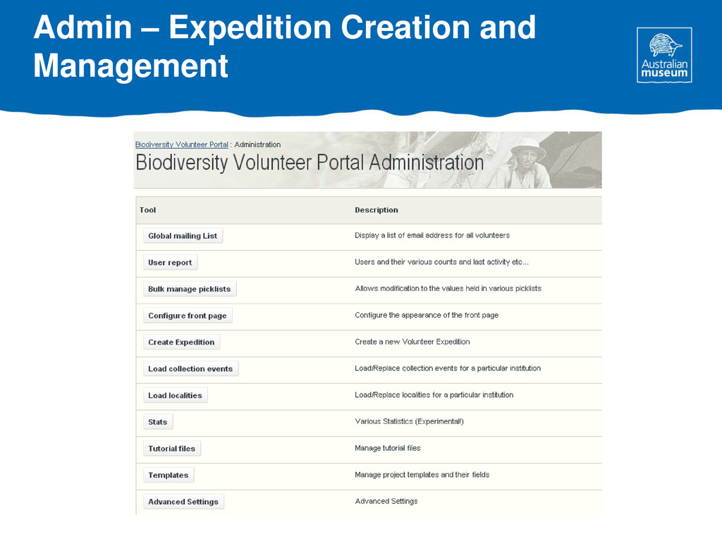 Admin – Expedition Creation and Management