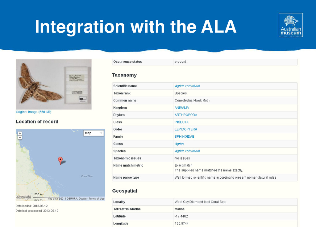 Integration with the ALA