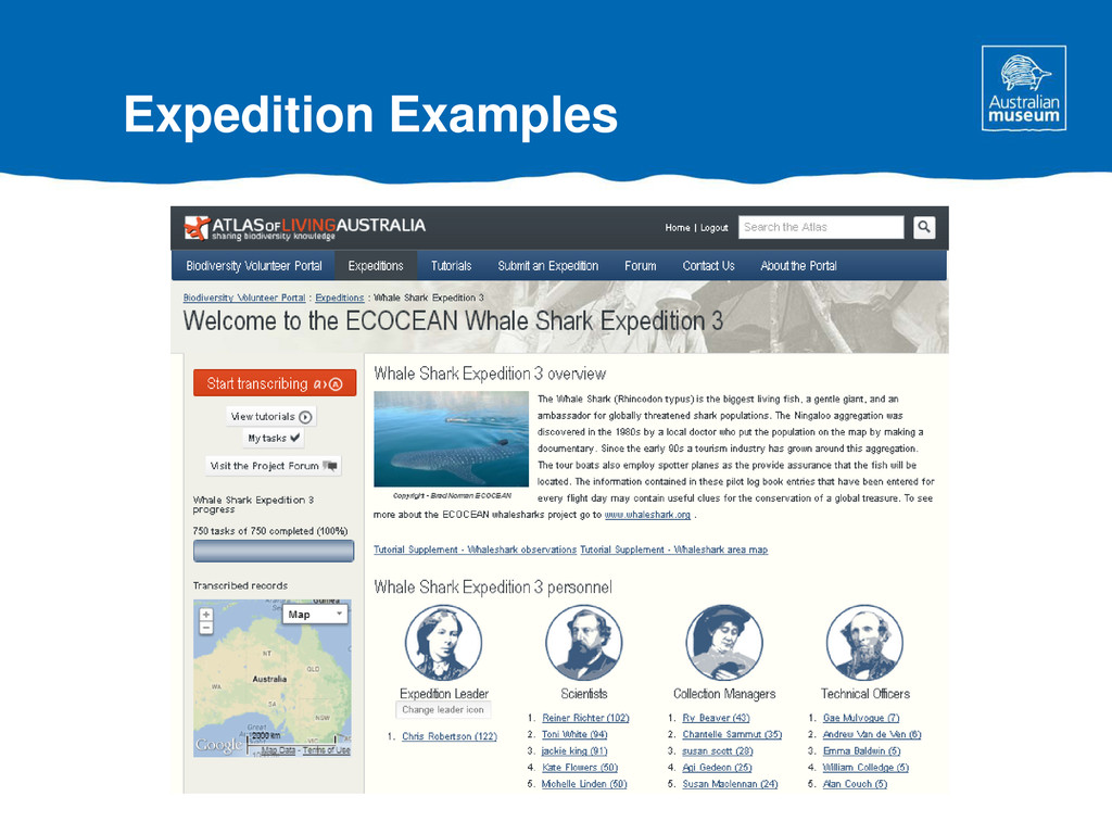 Expedition Examples