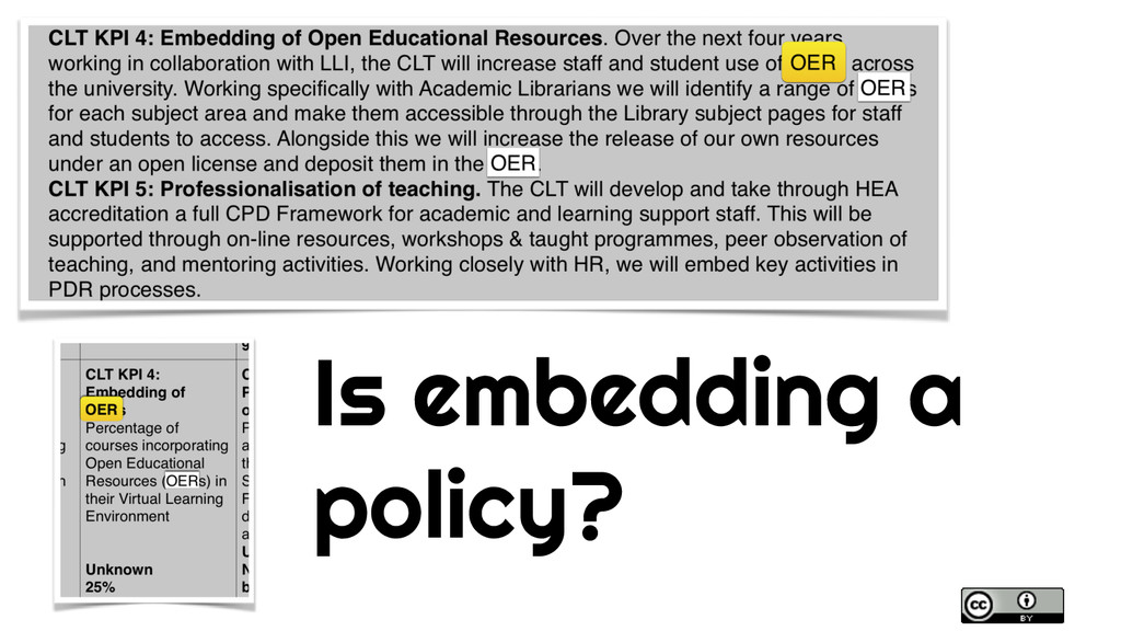 Is embedding a policy?