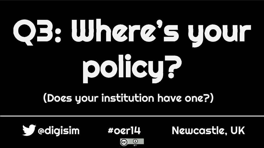 Q3: Where's your policy? (Does your institution...