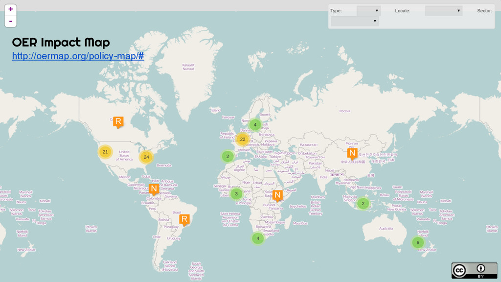 OER Impact Map http://oermap.org/policy-map/#