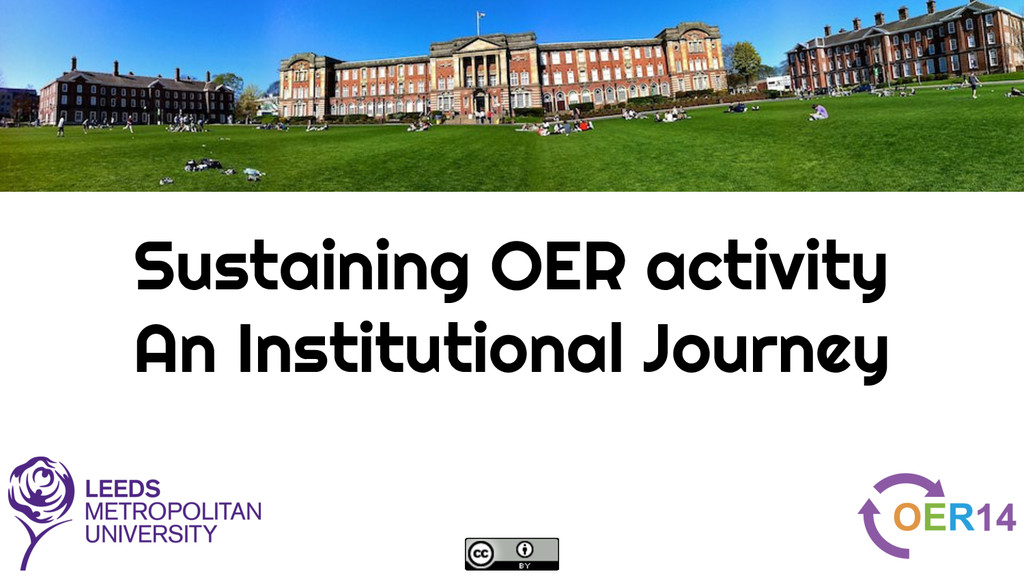 Sustaining OER activity An Institutional Journey