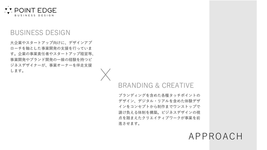 APPROACH BUSINESS DESIGN ⼤企業やスタートアップ向けに、デザインアプ ...