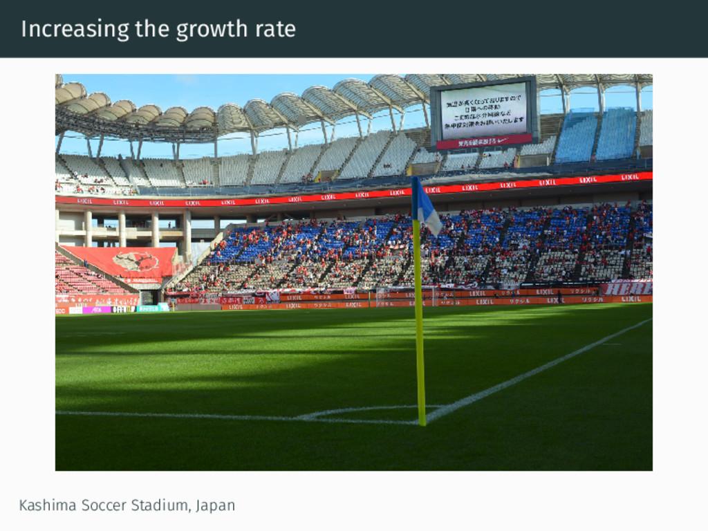 Increasing the growth rate Kashima Soccer Stadi...