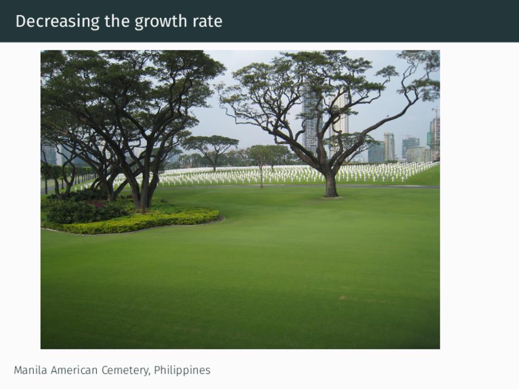 Decreasing the growth rate Manila American Ceme...