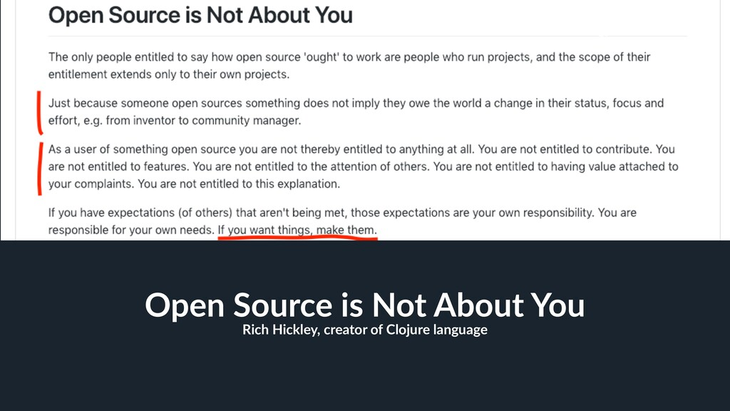 20 Open Source is Not About You Rich Hickley, c...