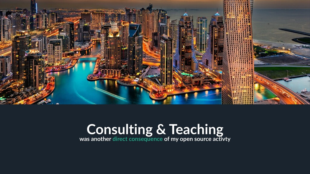 28 Consulting & Teaching was another direct con...