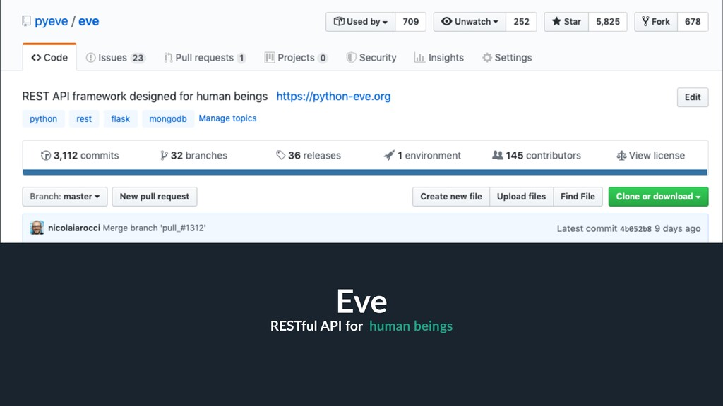 RESTful API for human beings 4 Eve